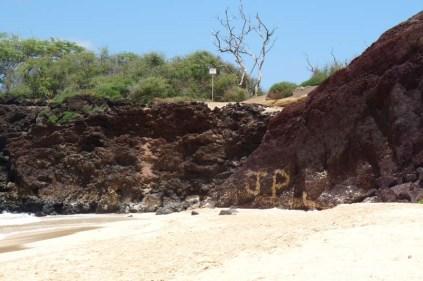 Beach Graffiti (done with sand) - Big Beach, Makena, Maui